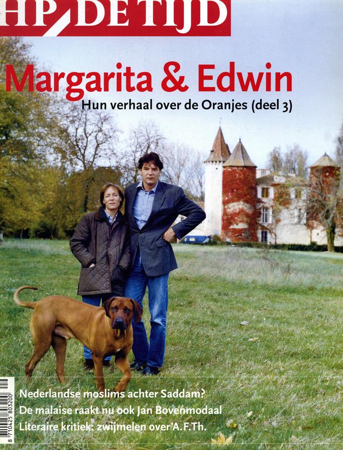 Edwin & Marguerita Bourbon de Parme, Cover HP/De Tijd