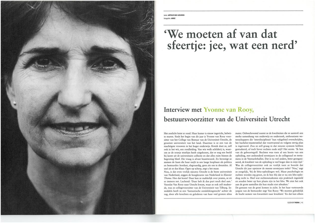 Yvonne van Rooy, Elsevier