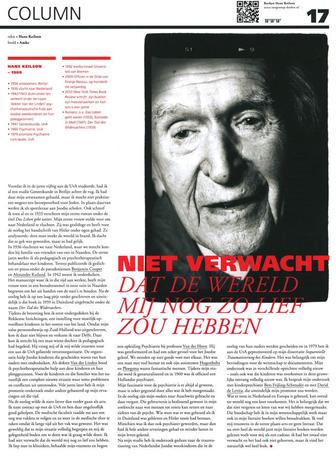 Hans Keilson, SPUI magazine