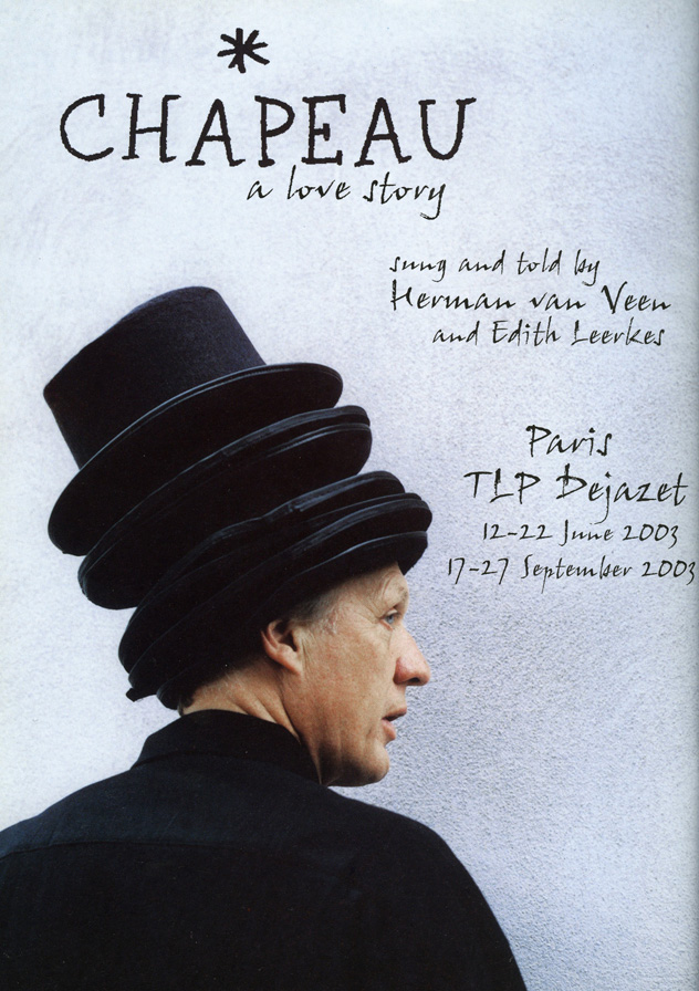 Herman van Veen, affiche, cover boek en cd