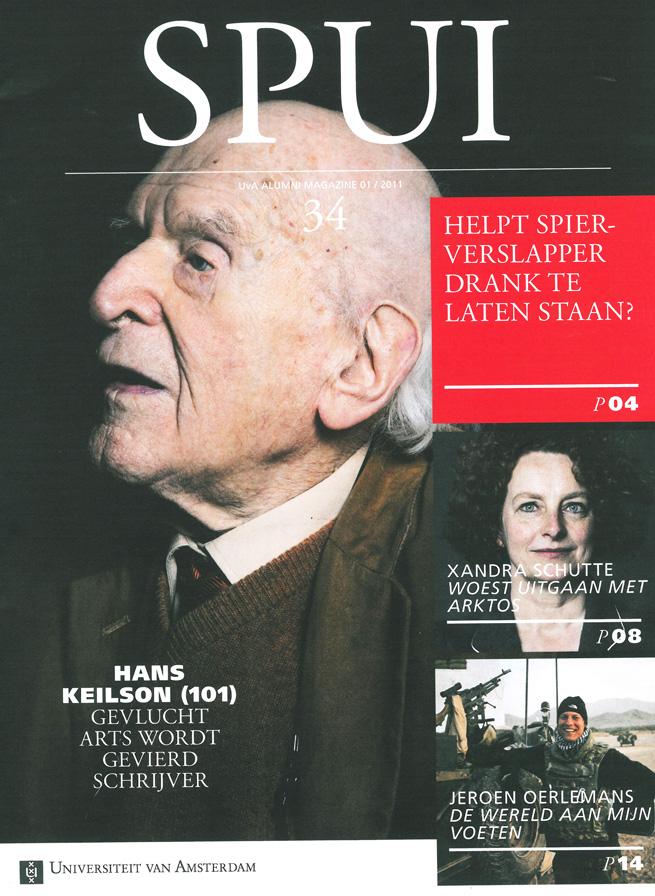 Hans Keilson, Cover SPUI magazine