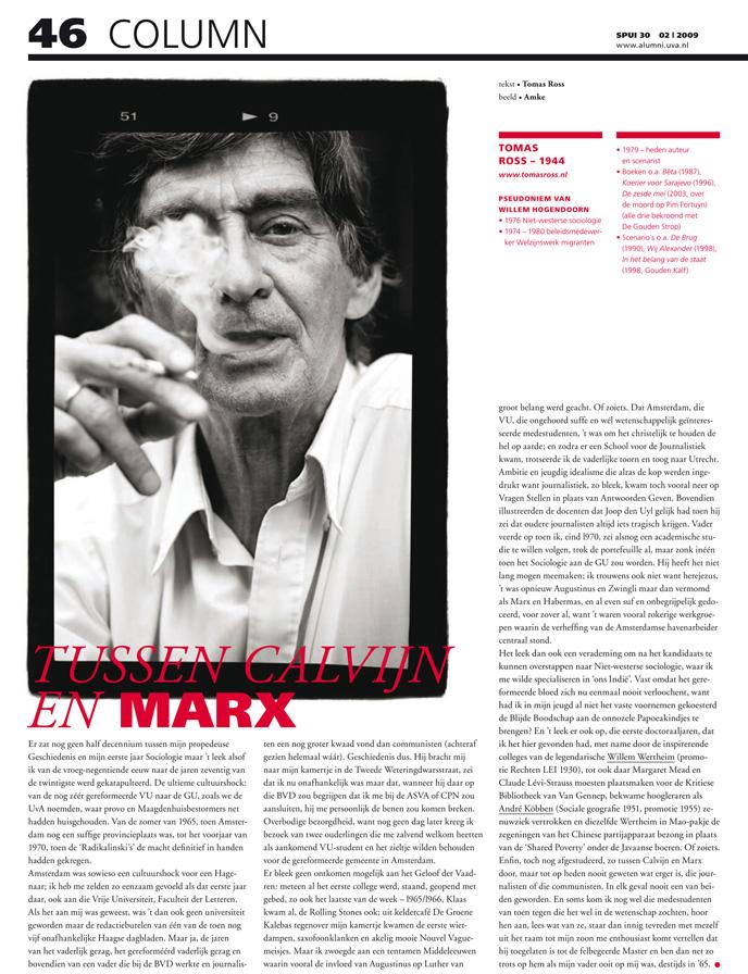 Tomas Ross, SPUI magazine