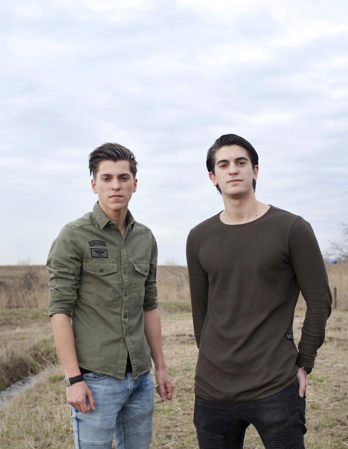 Gino and Luca Iraggi, buurjongens