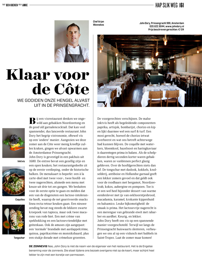 Restaurant John Dory, Quote
